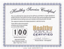 Healthy Service Certification (2+ Locations)